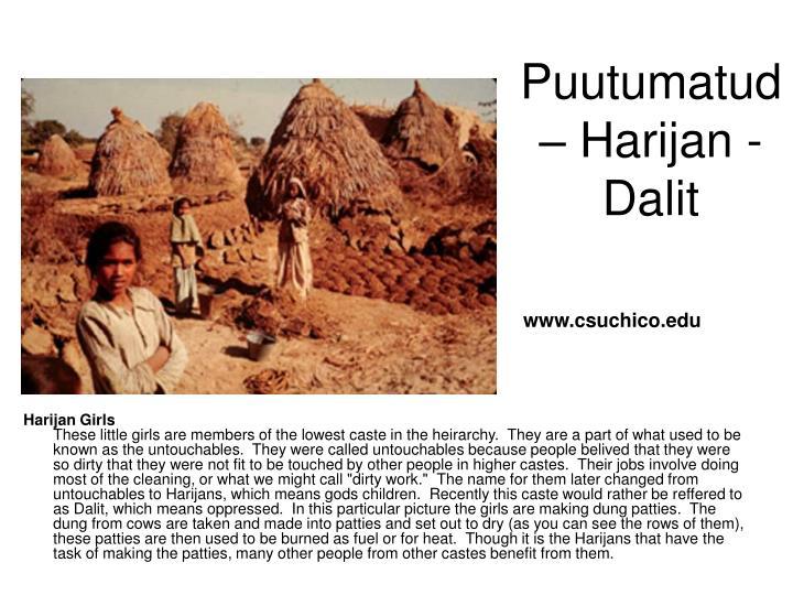 Puutumatud – Harijan - Dalit