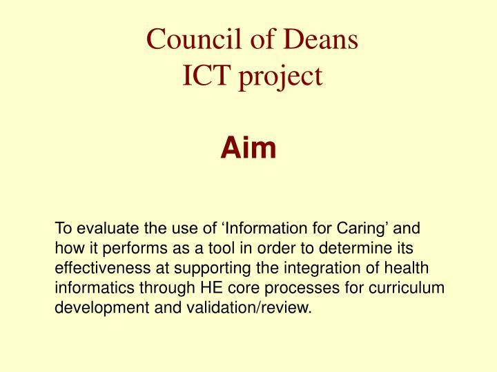 Council of Deans