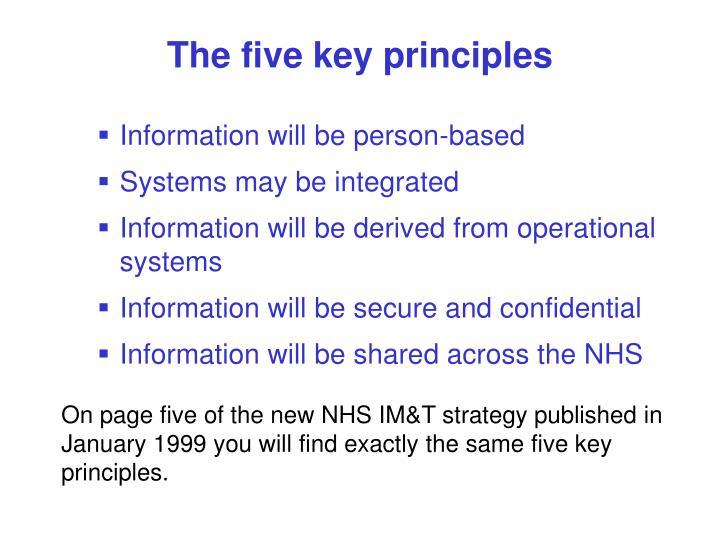 The five key principles