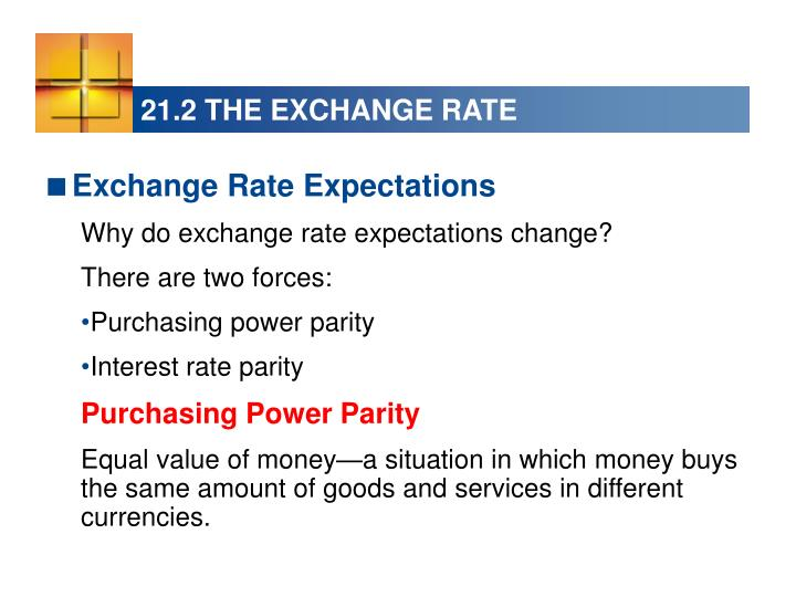21.2 THE EXCHANGE RATE