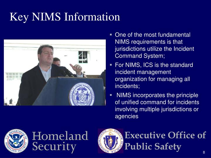 Key NIMS Information