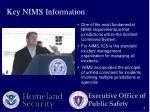 key nims information