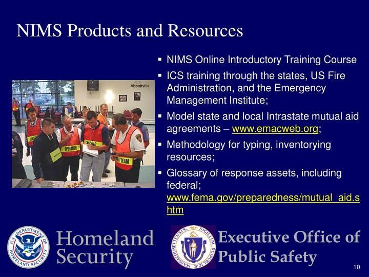 NIMS Products and Resources