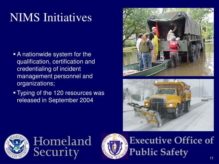 NIMS Initiatives