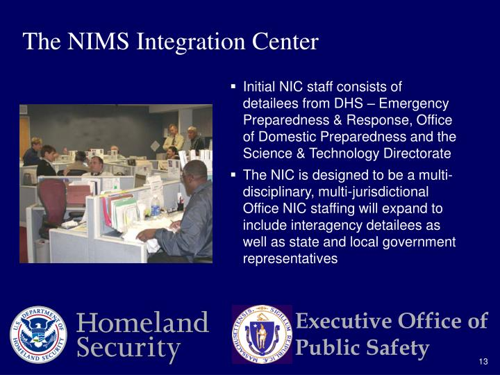The NIMS Integration Center