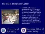the nims integration center1