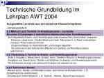 technische grundbildung im lehrplan awt 200411