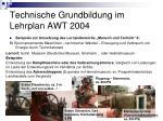 technische grundbildung im lehrplan awt 200421