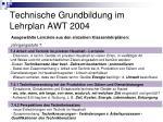 technische grundbildung im lehrplan awt 200422
