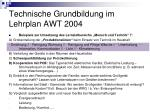 technische grundbildung im lehrplan awt 200423