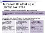 technische grundbildung im lehrplan awt 200424