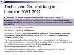 technische grundbildung im lehrplan awt 200425