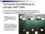 technische grundbildung im lehrplan awt 20049