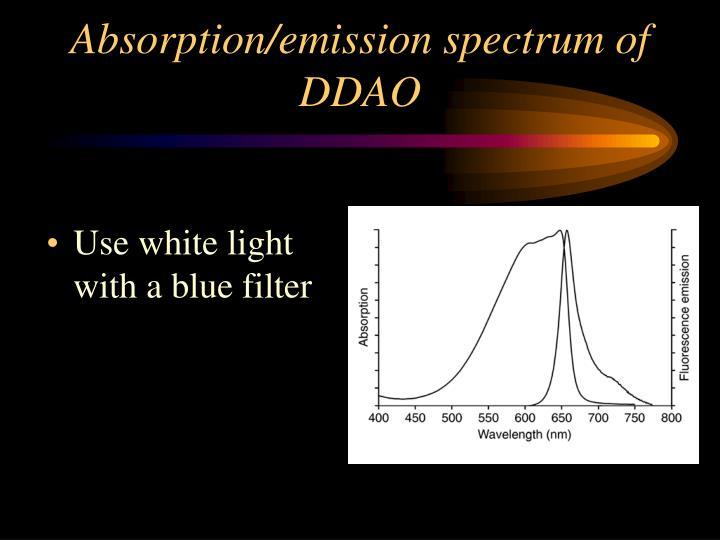 Absorption/emission spectrum of DDAO