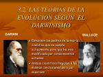 3 2 las teorias de la evolucion seg n el darwinismo