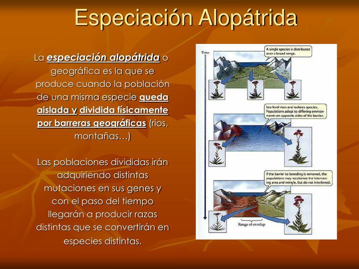 Especiación Alopátrida