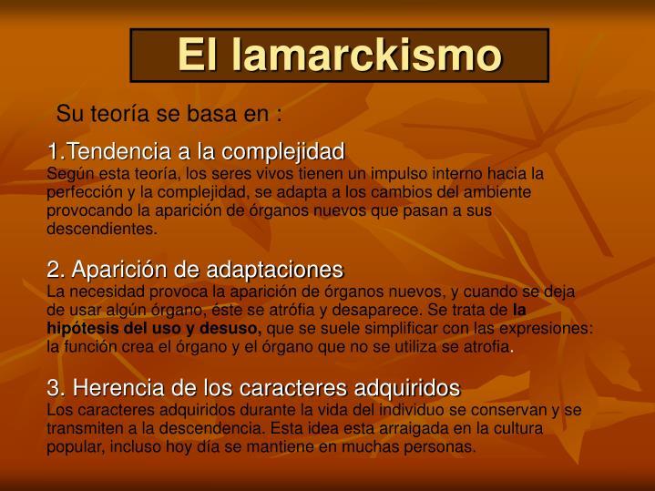 El lamarckismo