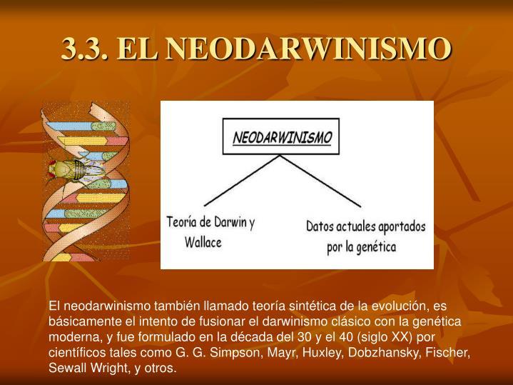 3.3. EL NEODARWINISMO