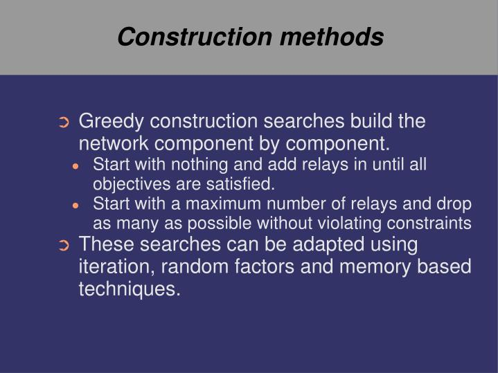 Construction methods