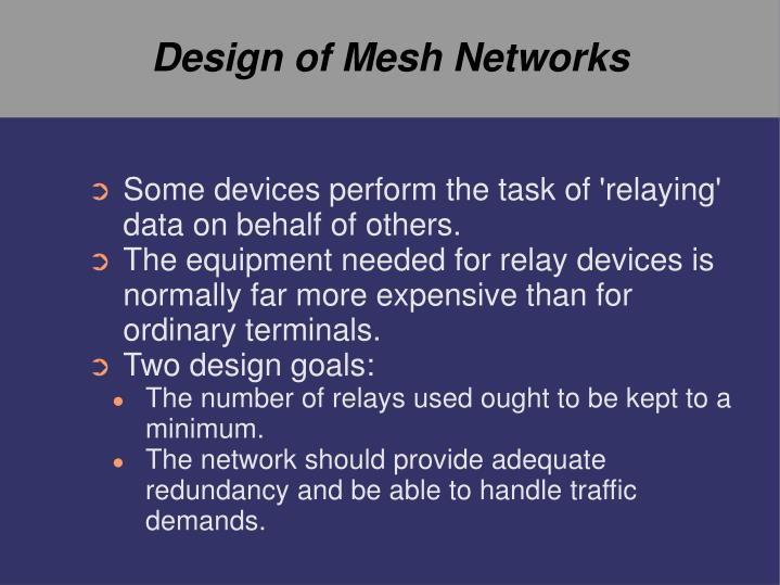 Design of Mesh Networks