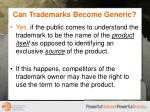 can trademarks become generic