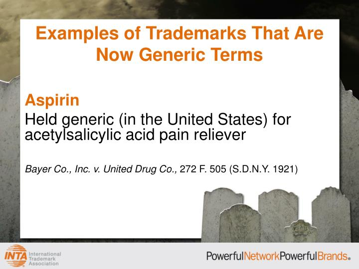 Examples of Trademarks That Are Now