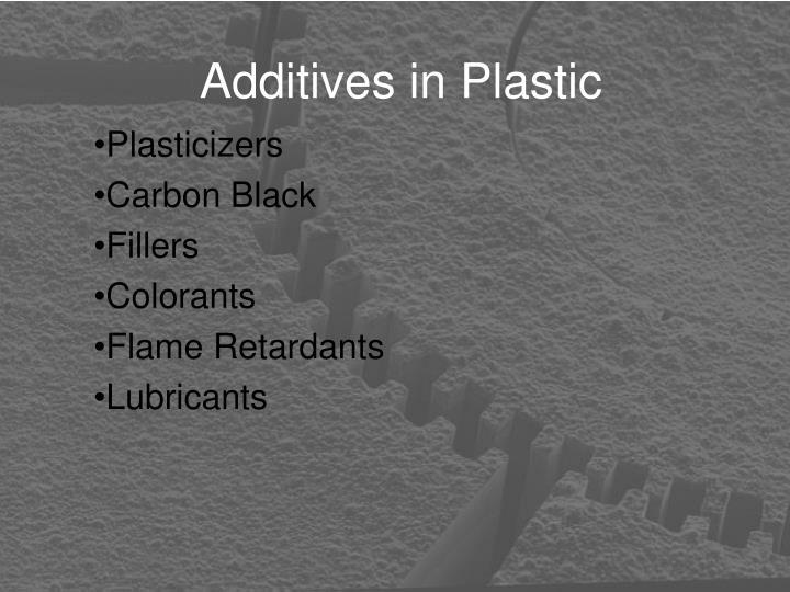 Additives in Plastic