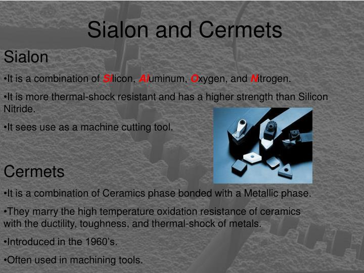 Sialon and Cermets