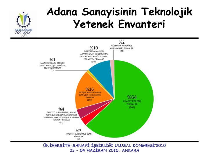 Adana Sanayisinin Teknolojik Yetenek Envanteri