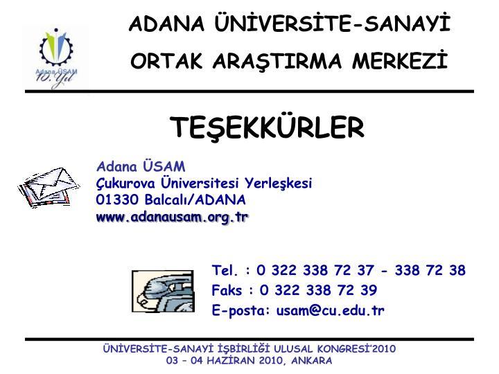 ADANA ÜNİVERSİTE-SANAYİ