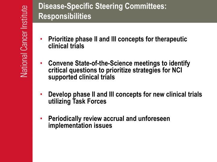 Disease-Specific Steering Committees:
