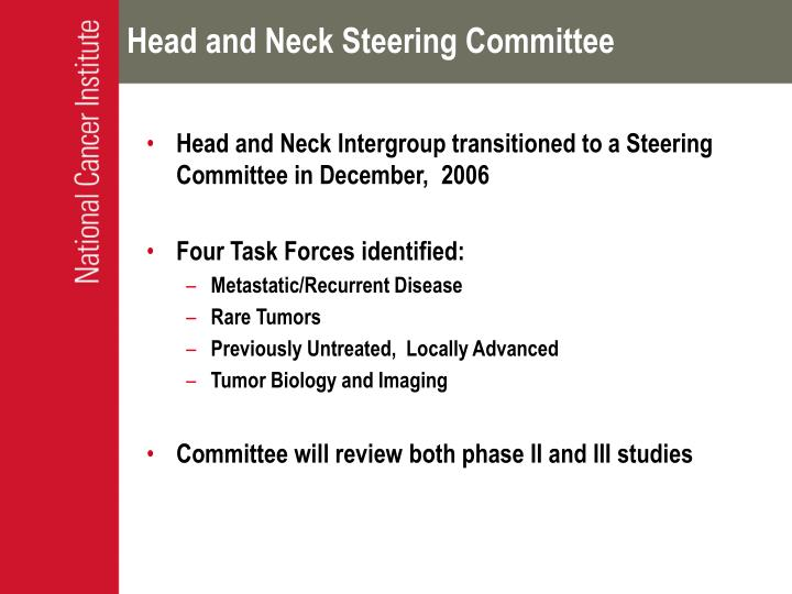 Head and Neck Steering Committee