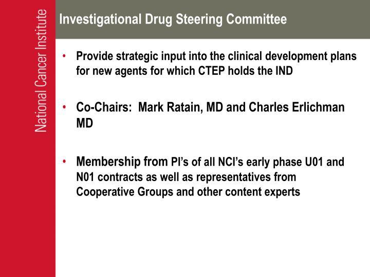 Investigational Drug Steering Committee