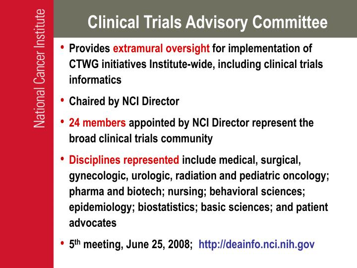 Clinical Trials Advisory Committee