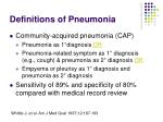 definitions of pneumonia