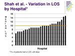 shah et al variation in los by hospital