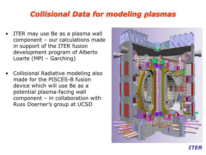 Collisional Data for modeling plasmas