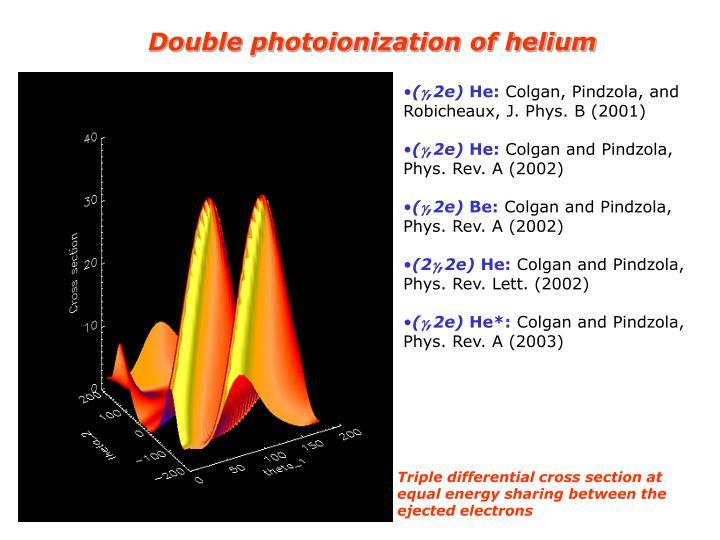 Double photoionization of helium
