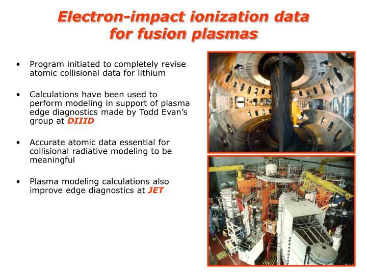 Electron-impact ionization data