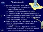 disinfection ii