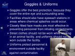 goggles uniforms