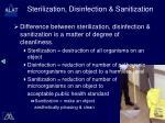 sterilization disinfection sanitization