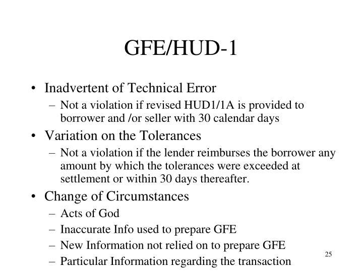 GFE/HUD-1