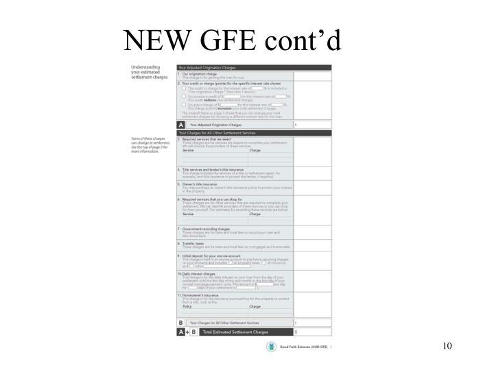 NEW GFE cont'd