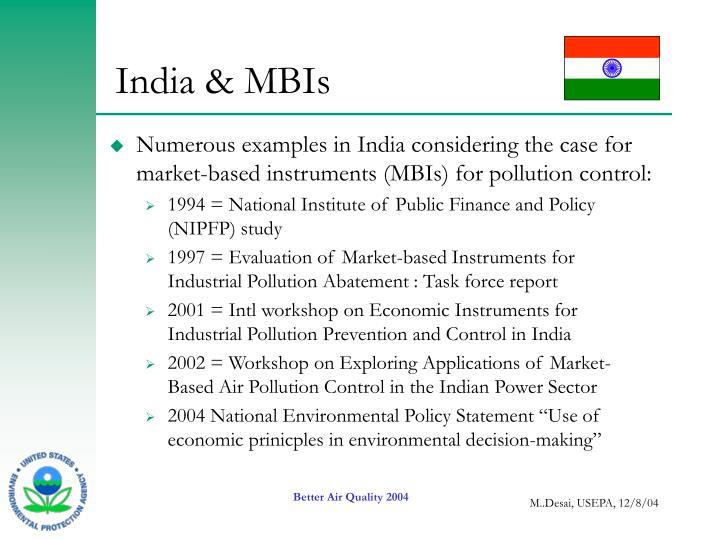India & MBIs