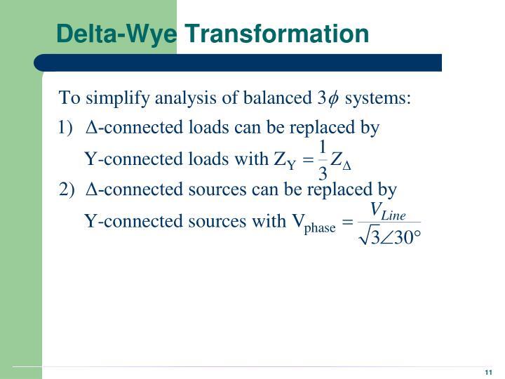 Delta-Wye Transformation