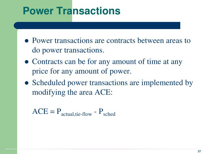 Power Transactions