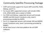 community satellite processing package