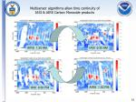multisensor algorithms allow time continuity of iasi airs carbon monoxide products