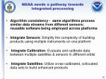 noaa needs a pathway towards integrated processing